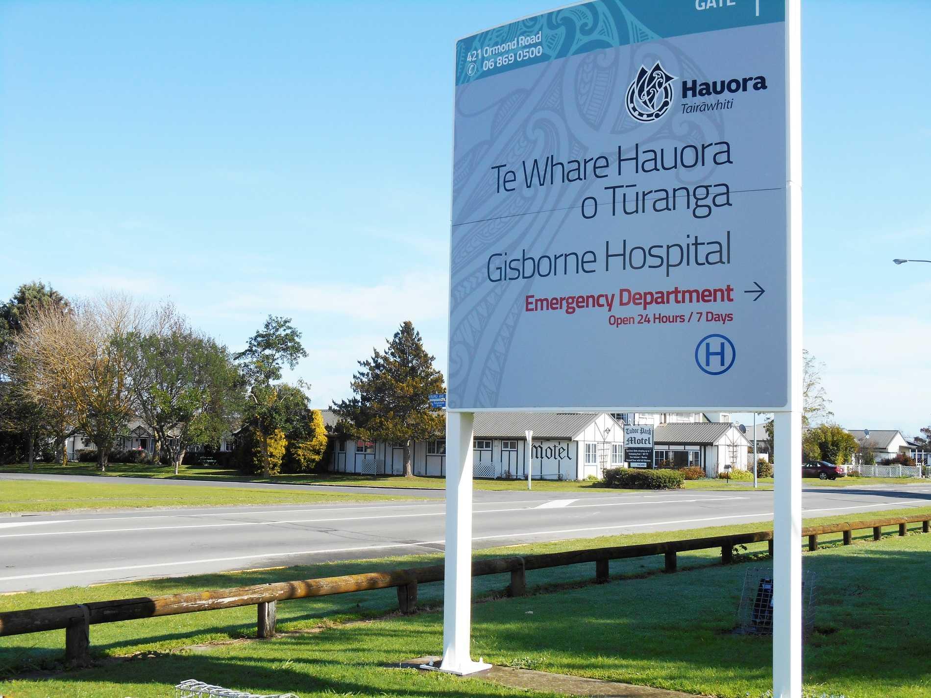 Gisborne Hospital across the road