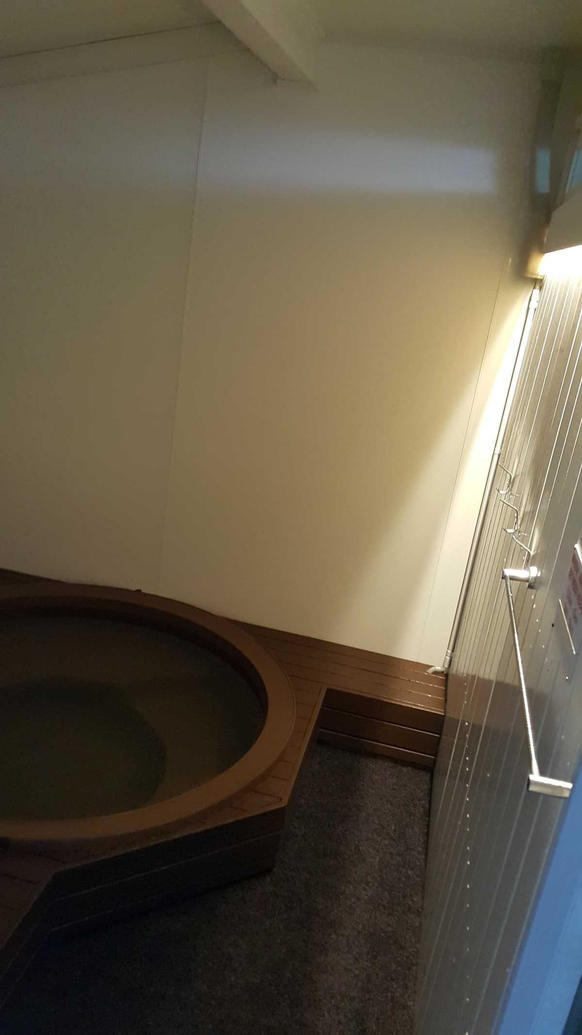 Private thermal pool in room