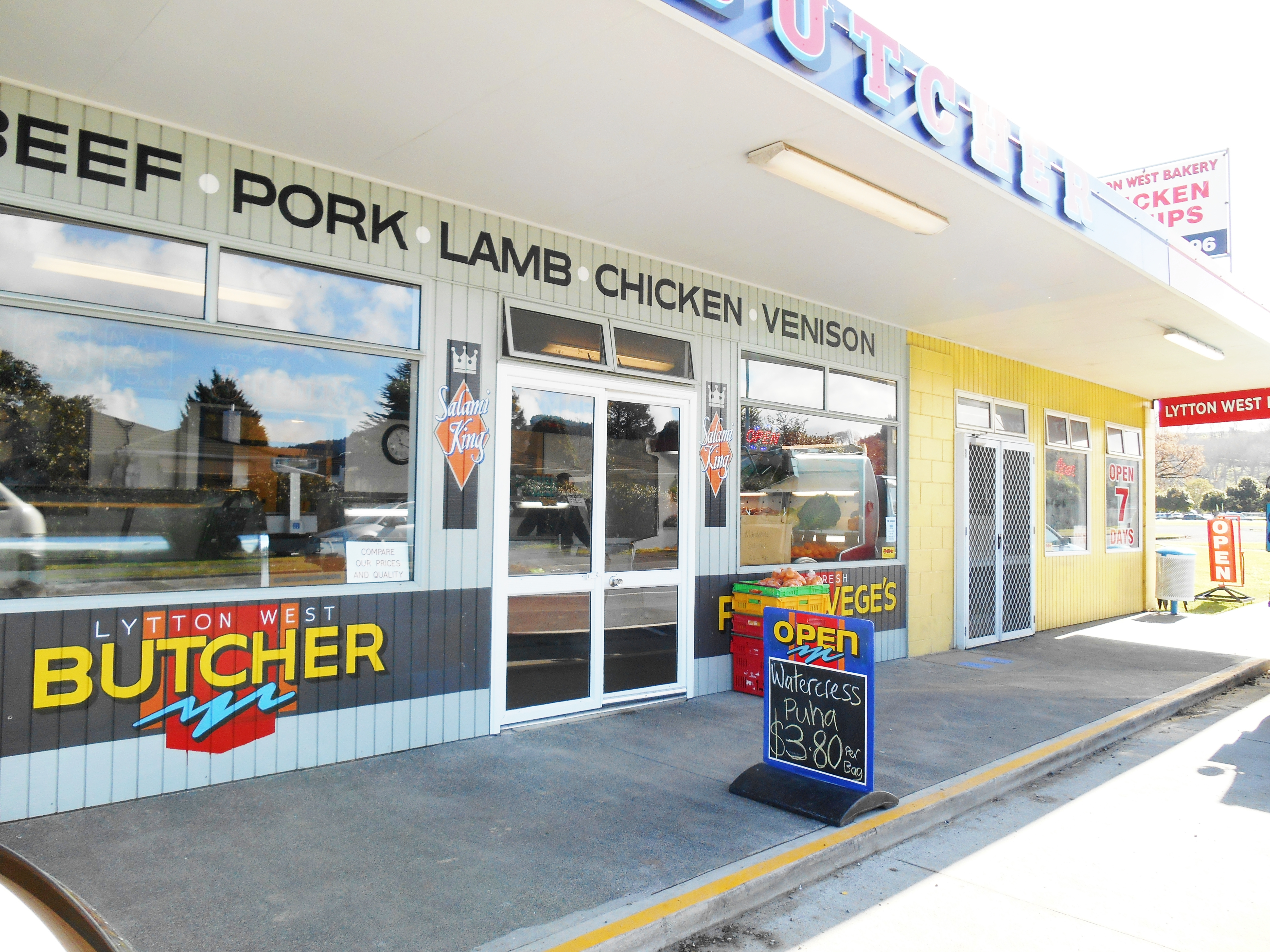 Local butcher and bakery - 100 meters