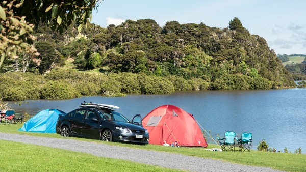 Plenty of tent sites for camping