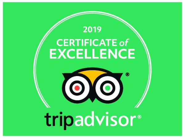 Tripadvisor Excellence Award for 2019