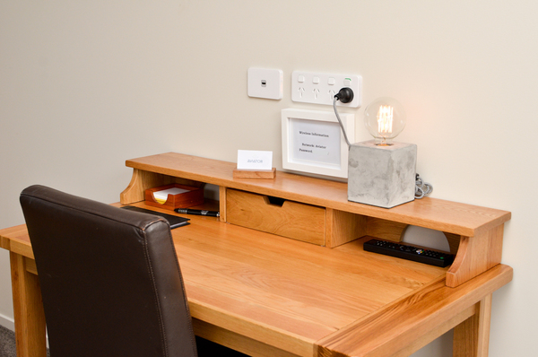 Work desk with free high speed WiFi