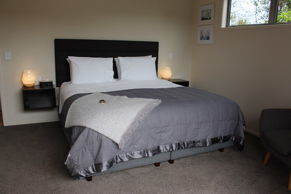 Super king bed with luxury bedding